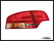 Lampy tylne LED Audi A4 B7 sedan 04-08 Red / Crystal