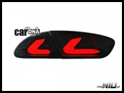 carDNA lampy tylne LED Seat Leon LIGHTBAR 09+ 1P1 black/clear