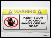 Lepka Warning Keep Your Fucking Hands off my SEAT 12cm Kolor