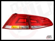Lampy tylne LED VW Golf VII LIGHTBAR RED/CLEAR