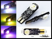 W5W T10 LED Can Bus RGB 2xHP-MC 7 color / 14 mode