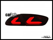 carDNA lampy tylne LED Seat Leon LIGHTBAR 09+ 1P1 red/smoke