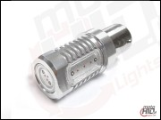 BA15s (1156) Power LED 4x1.5W czerwona SILV+