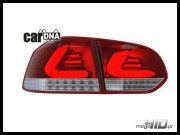 carDNA lampy tylne LED VW Golf VI LIGHTBAR silver red clear