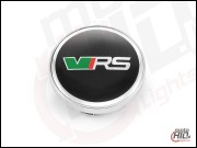 Emblemat / dekielek Skoda RS (vRS) #1 chrome 56mm Repl.