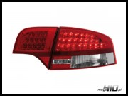 Lampy tylne LED Audi A4 B7 sedan 04-08 Red / Silver