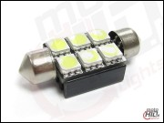 C5W C10W 6xSMD 36mm Can Bus RADIATOR biała 6000k