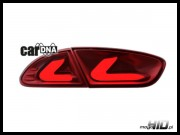 carDNA lampy tylne LED Seat Leon LIGHTBAR 09+ 1P1 red/clear