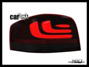 carDNA lampy tylne LED Audi A3 8P 03-09 LIGHTBAR black/red/smoke