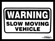 Lepka Warning Slow Moving Vehicle 12cm Czarna
