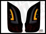 Lampy tylne LED VW UP! Skoda Citigo LIGHTBAR 11+ Black / Smoke