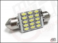 C5W C10W 15xSMD 39mm CAN BUS RADIATOR biała 4300k