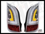 Lampy tylne LED VW UP! Skoda Citigo LIGHTBAR 11+ Chrome / CLEAR