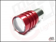 Ba15s (1156) CREE Q5 5W biała clear 20mm Red Shell 6000k