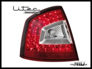 Litec Skoda Octavia 2 (1Z) lampy LED liftback 04+ red/clear