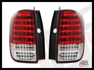 carDNA lampy tylne LED Dacia DUSTER 09+ LIGHTBAR red / clear