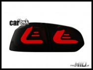 carDNA lampy tylne LED VW Golf VI LIGHTBAR black smoke