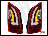 Lampy tylne LED VW UP! Skoda Citigo LIGHTBAR 11+ Red / CLEAR