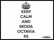 Lepka Keep Calm and Skoda Octavia RS VRS , 7x15, BLACK