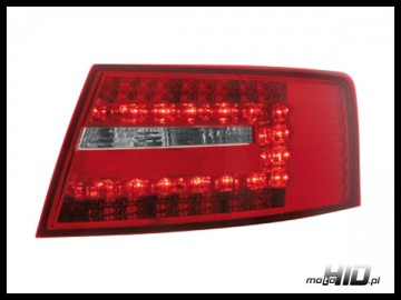 Lampy tylne LED Audi A6 C6 lim  04-08 red/clear