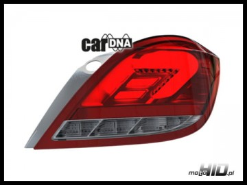 carDNA lampy tylne LED Astra H 5D  LIGHTBAR  Silver-Red-Clear