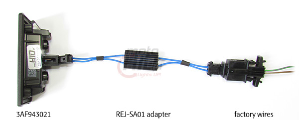 3AF943021 + REJ-SA01 adapter for AUDI & SKODA