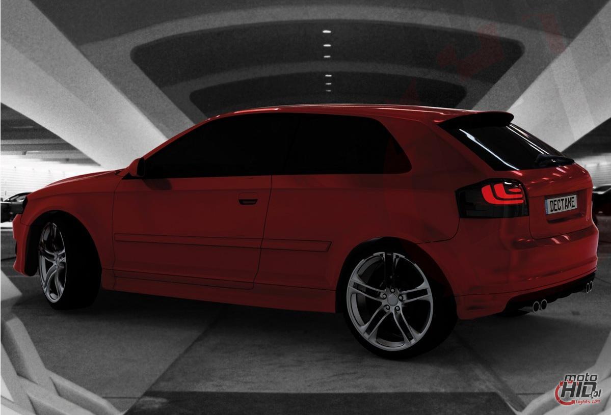 Cardna Lampy Tylne Led Audi A3 8p 03 09 Lightbar Blacksmoke