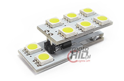 w5w t10 8x SMD LED 2P can
