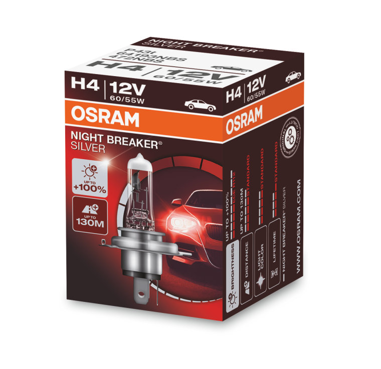OSRAM NIGHT BREAKER SILVER H4