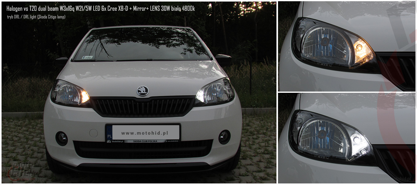 SKODA CITIGO Halogen vs LED DRL