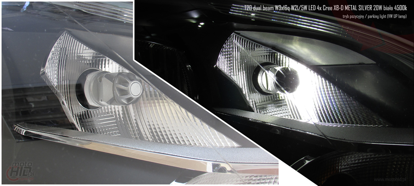 T20 DUAL LED VW UP DRL PARKING LIGHT