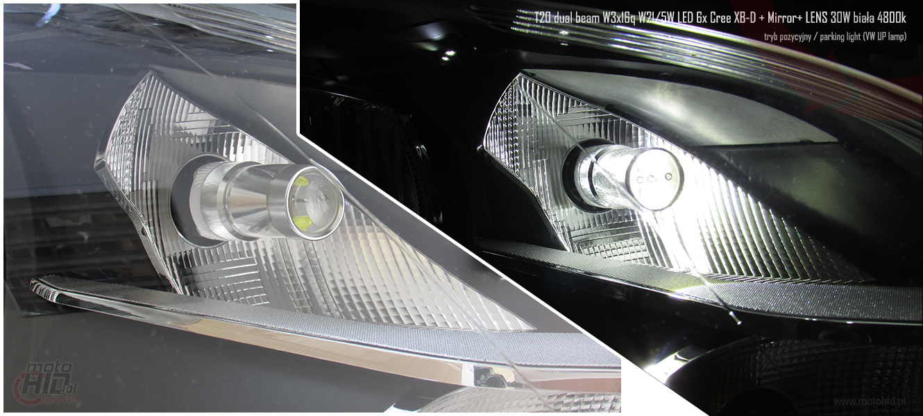 VW UP LED DRL parking light