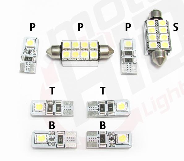 Opel Zafira B Zestaw Oświetlenia Wnętrza Led Standard 4300k