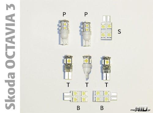 Skoda Octavia 3 Zestaw Oświetlenia Wnętrza Led Standard 4300k