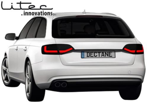 Litec Led Lampy Tylne Audi A4 B8 8k Avant Black Smoke Motohidpl