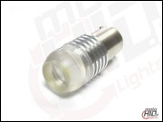 BA15s (1156)  3WL High Power LED 3W Mat Lense biała 6000k