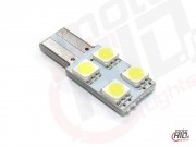 W5W T10 LED 4xSMD 1S 6000k canbus LV