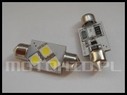C5W C10W 3xSMD 36mm CAN BUS biała