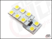 W5W / T10 LED 8xSMD 1S 2P 7000k CANBUS
