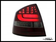 Skoda Octavia 2 (1Z) lampy LED liftback 04+ red/smoke