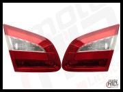 OEM Skoda Superb 2 lampa liftback RED/CLEAR L&K małe komplet