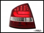 Skoda Octavia 2 (1Z) lampy LED liftback 04+ red/clear