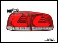carDNA lampy tylne LED VW Touareg LIGHTBAR silver / red / clear