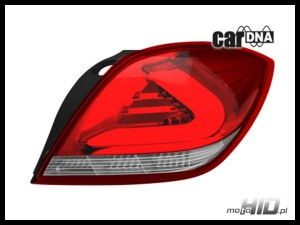 carDNA lampy tylne LED Astra H GTC  LIGHTBAR  Silver-Red-Clear