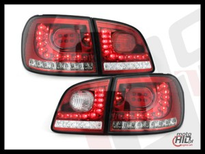 Lampy tylne LED VW Golf V/ VI Plus 05+ red / clear