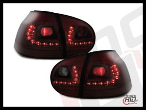 LITEC lampy tylne LED VW Golf V 03-09 red smoke