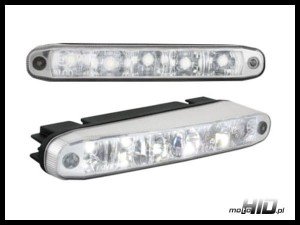 DRL LGX27 5x HP LED KIER. 159x22x49mm Clear