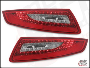 Lampy tylne LED Porsche 911/997 04-08 red/crystal