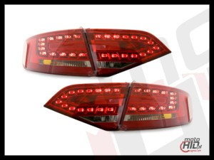 Lampy tylne LED Audi A4 B8 8K 07+ lim. Red / Crystal #2