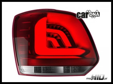 carDNA lampy tylne LED VW POLO 6R 09+ LIGHTBAR red crystal